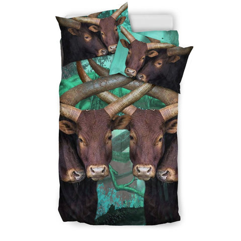 Ankole Watusi Cattle (Cow) Art Print Bedding Set-Free Shipping