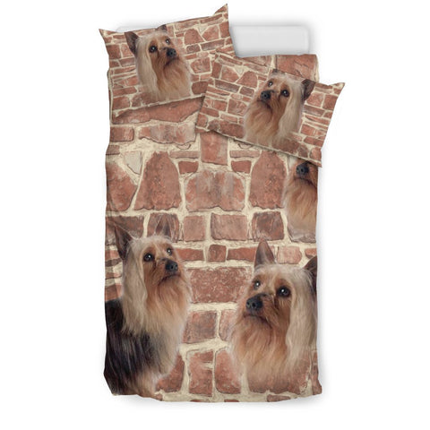 Australian Silky Terrier Print Bedding Set- Free Shipping