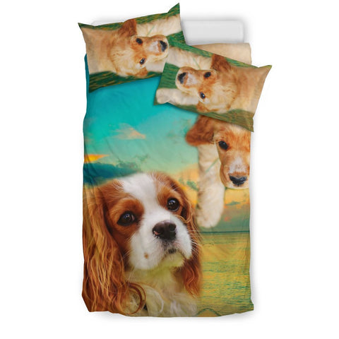 Lovely Cavalier King Charles Spaniel Dog Print Bedding Sets-Free Shipping