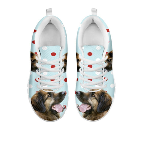 Amazing Leonberger With Red White dots Print Running Shoes For Women-Free Shipping-For 24 Hours Only