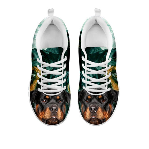 Rottweiler Print Sneakers For Women- Free Shipping