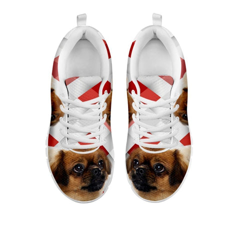 Amazing Tibetan Spaniel Red White Print Running Shoes For Women-Free Shipping-For 24 Hours Only