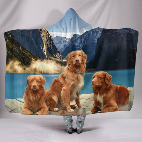 Nova Scotia Duck Tolling Retriever Print Hooded Blanket-Free Shipping