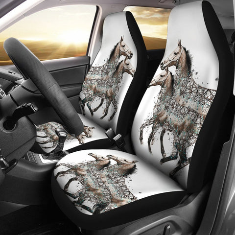 American Quarter Horse Art Print Car Seat Covers-Free Shipping