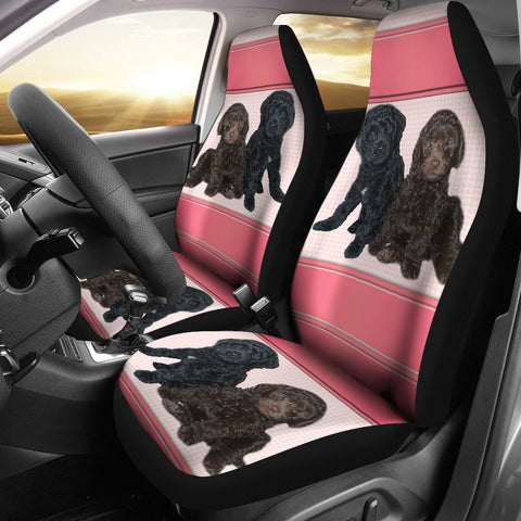 Cute Barbet Dog Print Car Seat Covers-Free Shipping