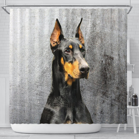 Doberman Pinscher Print Shower Curtains-Free Shipping