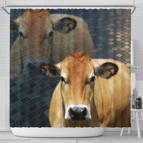 Parthenaise Cattle (Cow) Print Shower Curtain-Free Shipping