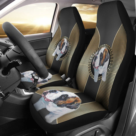 Cute Saint Bernard Dog Print Car Seat Covers- Free Shipping