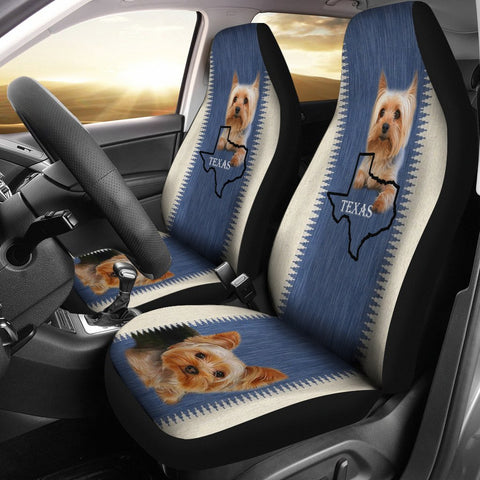 Yorkshire Terrier (Yorkie) Print Car Seat Cover-Free Shipping-TX State