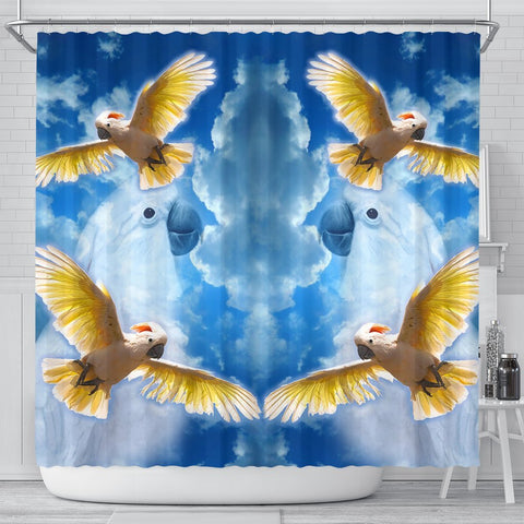 Salmon Crested Cockatoo Print Shower Curtains-Free Shipping