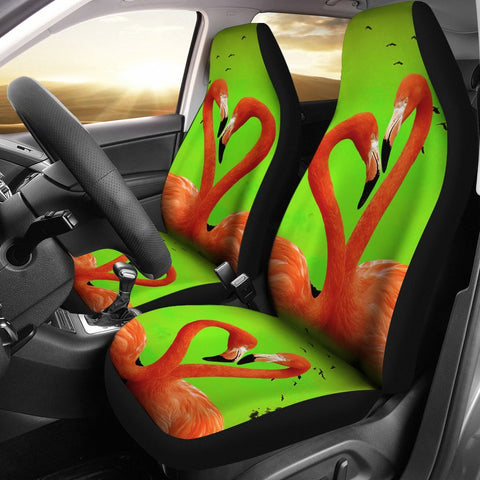 Flamingo Bird Heart Print Car Seat Covers-Free Shipping