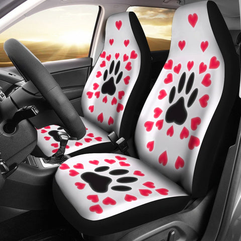 Paws With Love Print Car Seat Covers-Free Shipping