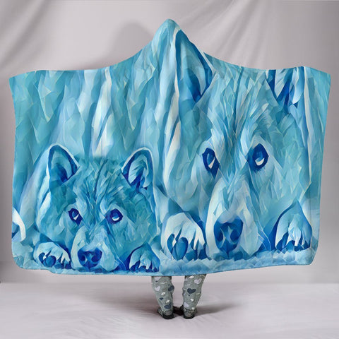 Snowy Shiba Inu Dog Print Hooded Blanket-Free Shipping