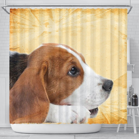 Cute Beagle Print Shower Curtains-Free Shipping