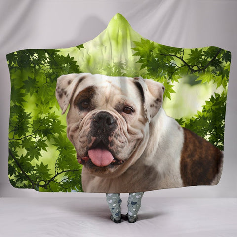 Cute American Bulldog Print Hooded Blanket-Free Shipping