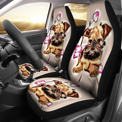 Brussels Griffon Dog Print Car Seat Covers-Free Shipping