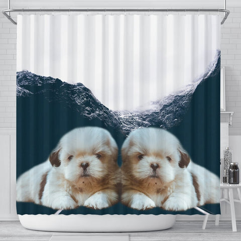 Shih Tzu Print Shower Curtain-Free Shipping