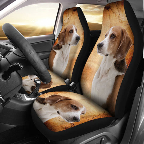 English Foxhound Print Car Seat Covers- Free Shipping