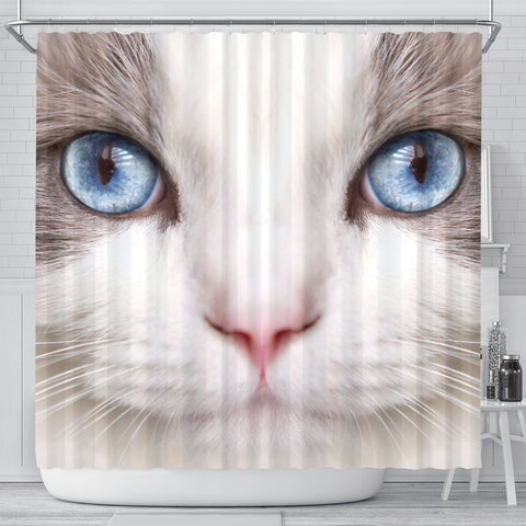 Ragdoll Cat Print Shower Curtain-Free Shipping