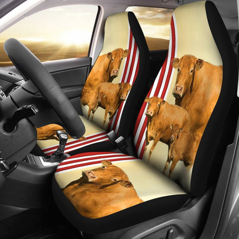 Limousin Cattle (Cow) Print Car Seat Cover-Free Shipping