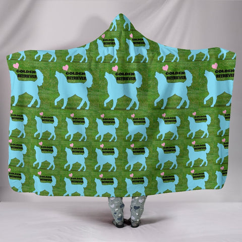 Golden Retriever Dog Pattern Print Limited Edition Hooded Blanket-Free Shipping
