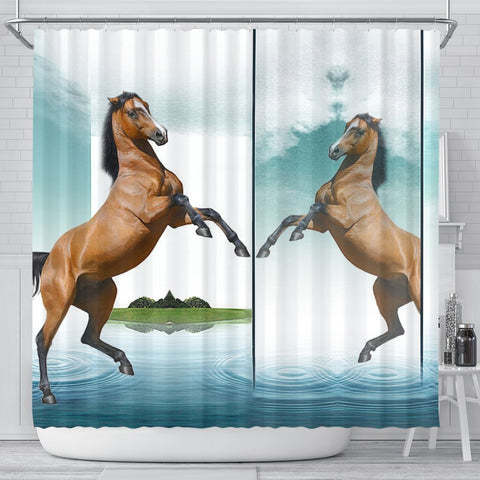 Lusitano Horse Print Shower Curtain-Free Shipping