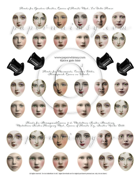 Faces Sheet PRINTED - paperwhimsy