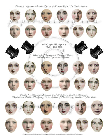 Faces Sheet PRINTED