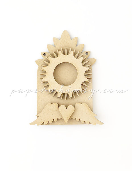 Odd Ornament - Cog & Wings - paperwhimsy