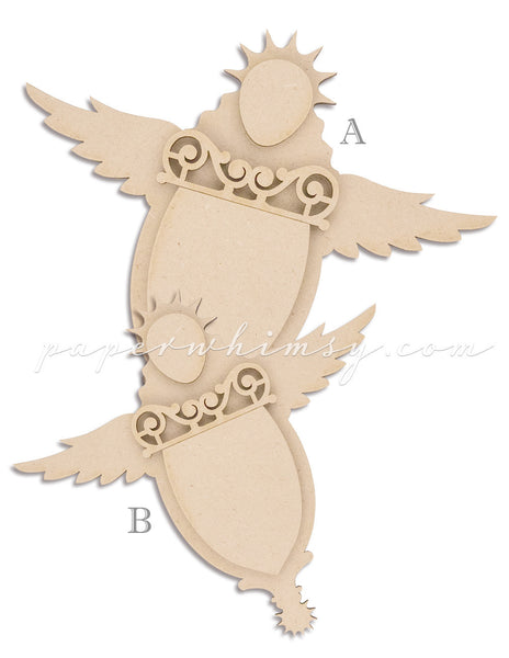 Curious Angel Banner - paperwhimsy