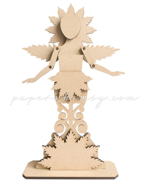 Curious Wood Nymph - paperwhimsy