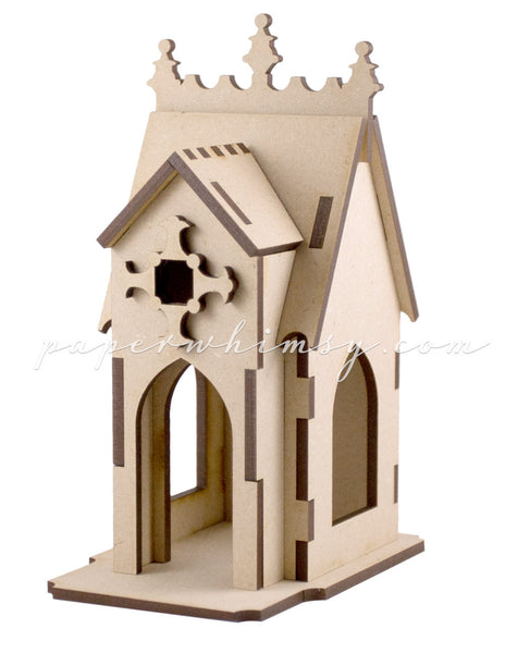 Curious Gothic Chapel - paperwhimsy