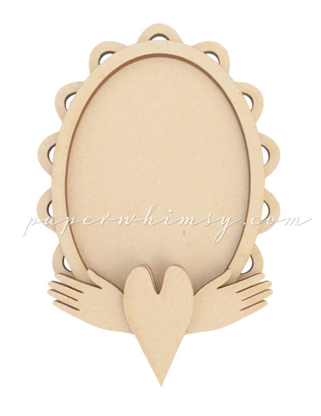 Curious Hands Frame - paperwhimsy