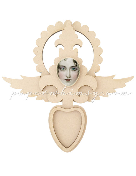 Angel Ex Voto Medallion - paperwhimsy