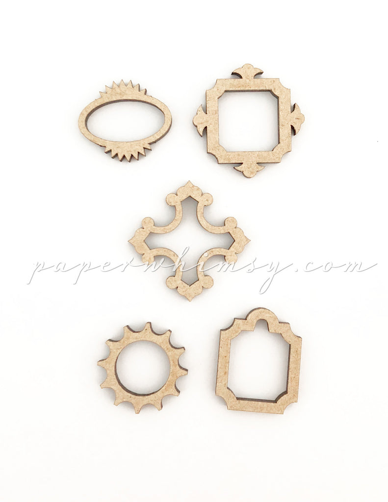 Curious Itty Bitty Frames - paperwhimsy