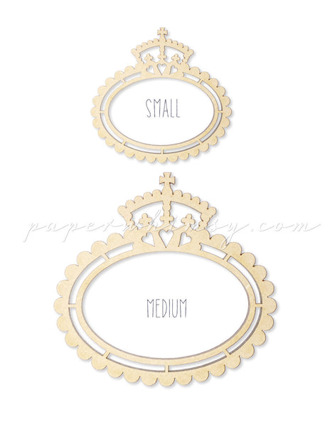 Regal Scalloped Frame - paperwhimsy