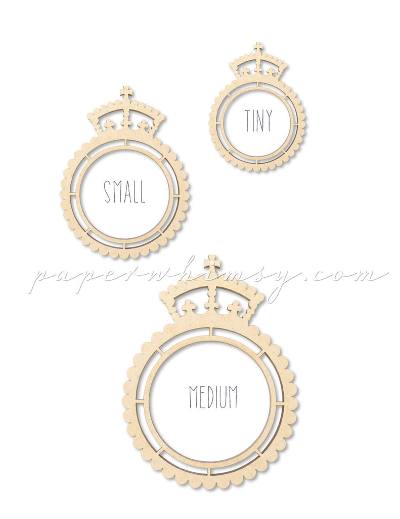 Regal Scalloped Frame Round - paperwhimsy