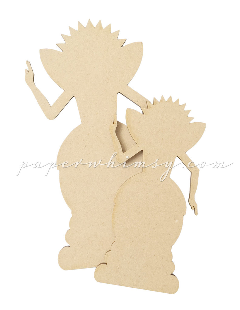 Garden Santos Flatties - paperwhimsy
