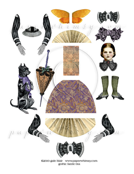 Gothic Faerie 01 PNG - paperwhimsy