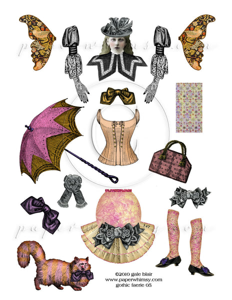 Gothic Faerie 05 PNG - paperwhimsy