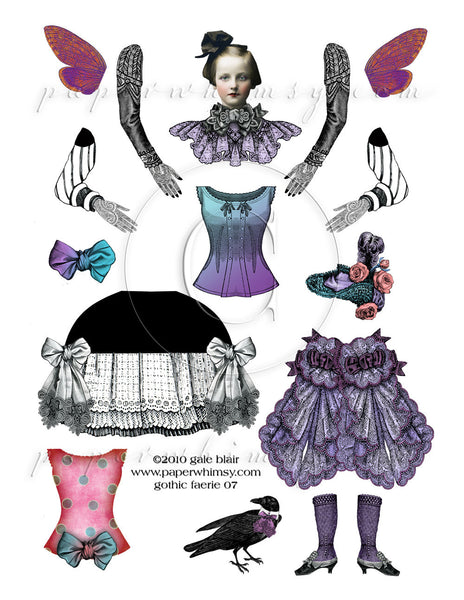 Gothic Faerie 07 PNG - paperwhimsy