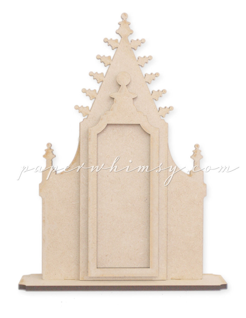 Gothic Window Frame - paperwhimsy