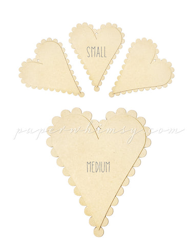 Perfect Scalloped Heart - paperwhimsy