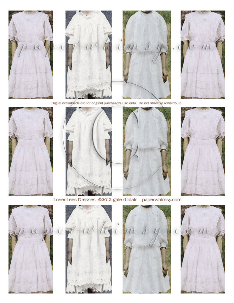 Lover Lees Dresses DOWNLOAD - paperwhimsy