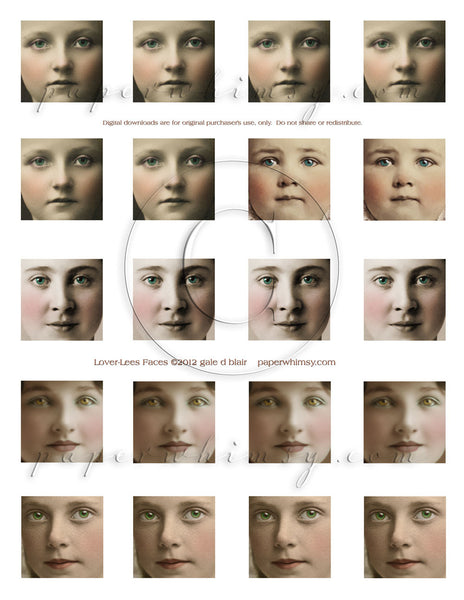 Lover Lees Faces DOWNLOAD - paperwhimsy
