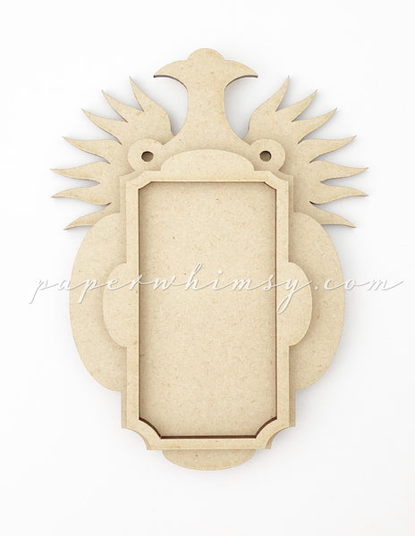 Odd Winged Medallion No.1 - paperwhimsy