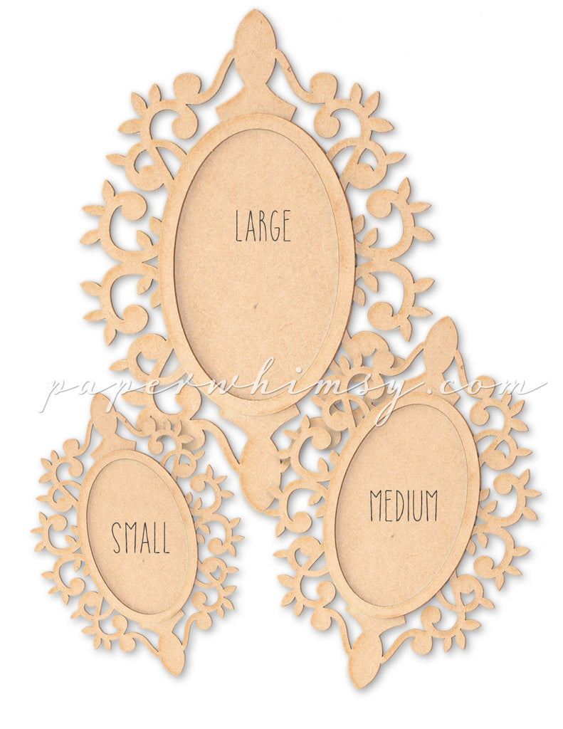 Ornate Medallion Frame - paperwhimsy