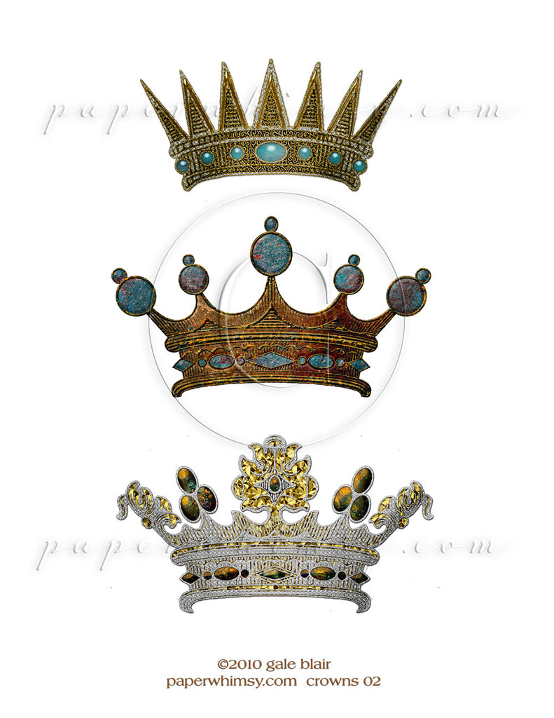Crowns 02 PNG - paperwhimsy