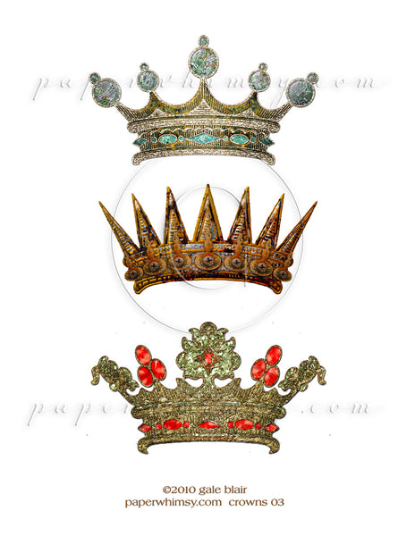 Crowns 03 PNG - paperwhimsy