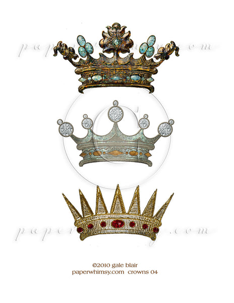 Crowns 04 PNG - paperwhimsy